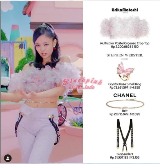 Cập nhật outfit của BLACKPINK trong MV `Ice Cream`